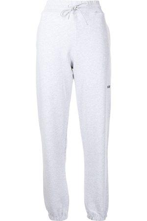 Msgm Women Sweatpants - Logo print joggers - Grey