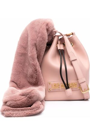 Love Moschino Scarf-detail logo-letter bag