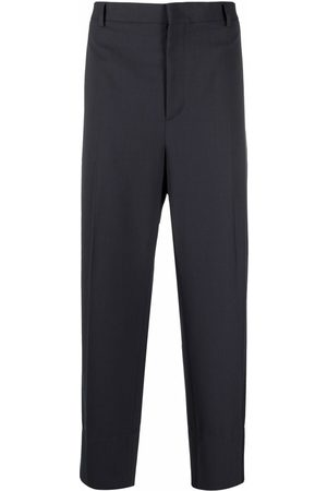VALENTINO Men Pants - Pressed crease cropped trousers - Grey