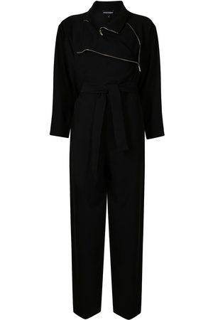Emporio Armani Zip-detail long-sleeved jumpsuit