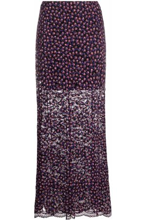 Paco rabanne Floral-pattern maxi skirt