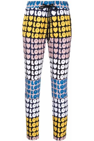 Love Moschino Women Leggings - Logo-print stretch-cotton leggings