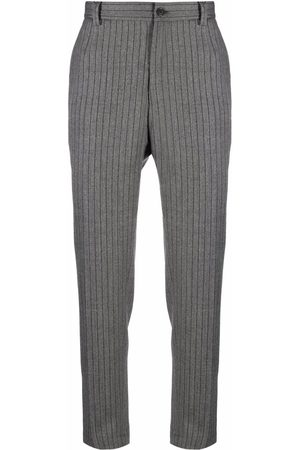 Dolce & Gabbana Men Formal Pants - Pinstriped tailored trousers - Grey