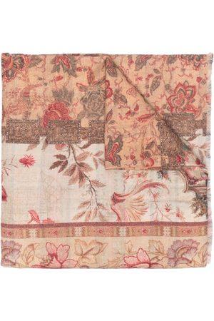PIERRE-LOUIS MASCIA Women Scarves - Cakes floral-pattern wool scarf - Neutrals