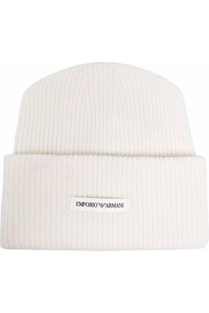 Emporio Armani Men Beanies - Ribbed-knit wool beanie