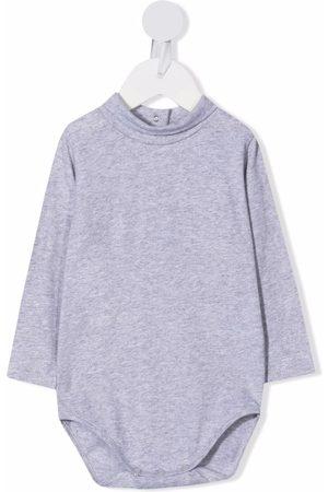 KNOT Longsleeved mock-neck babygrow - Grey