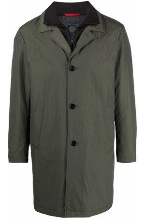 Fay Layered-effect ribbed-collar short coat