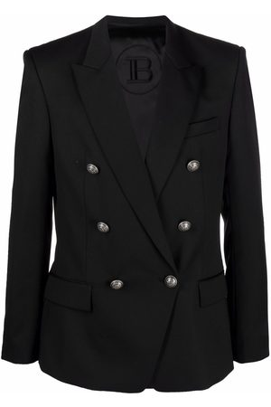 Balmain Embossed-button double-breasted blazer