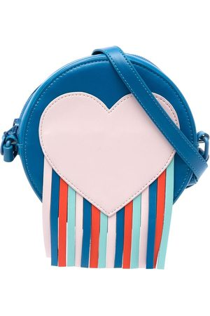 Stella McCartney Heart-patch fringed shoulder bag