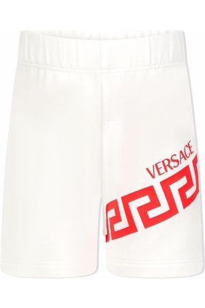 VERSACE Greek Key logo track shorts