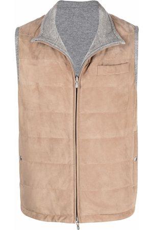 Brunello Cucinelli Padded leather vest - Neutrals