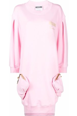 Moschino Clutch-embellished jumper dress