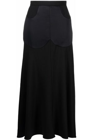 Vivienne Westwood Albertine flared asymmetric-hem long skirt