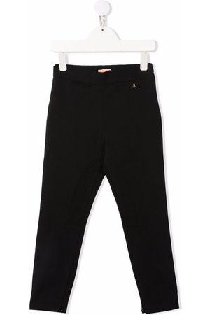 Elisabetta Franchi La Mia Bambina Girls Sweatpants - Logo-plaque slim-fit track pants