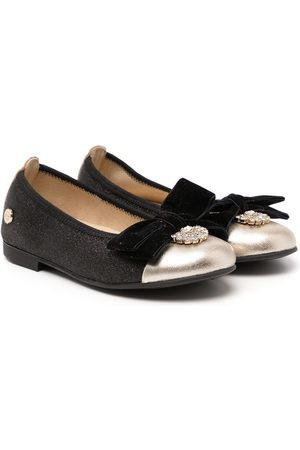 ANDANINES Bow detail embellished ballerinas