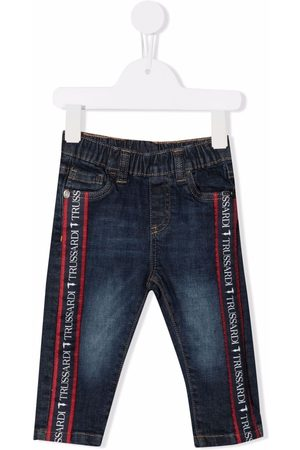 Trussardi Logo-tape straight-leg jeans