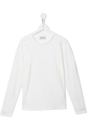 Moncler Boys Long Sleeve - Long-sleeve cotton T-shirt