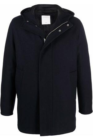 Sandro Men Parkas - Hooded wool parka