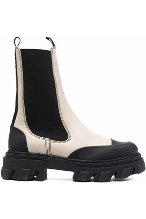 Ganni Ankle-length Chelsea boots - Neutrals
