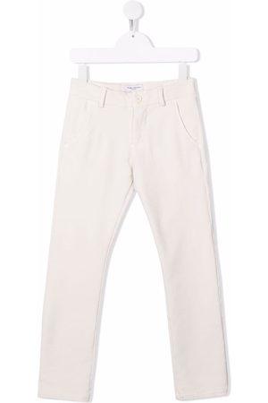 Paolo Pecora Boys Straight Leg Pants - Straight leg trousers - Neutrals