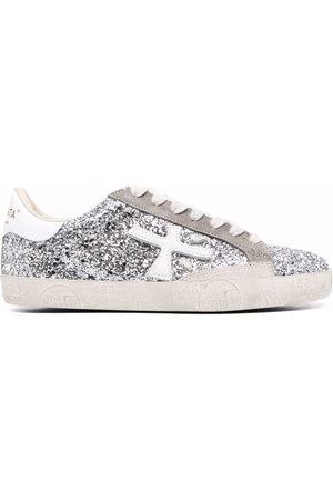 Premiata Women Sneakers - Steven glitter-embellished sneakers