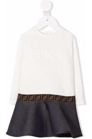 Fendi Baby Printed Dresses - Logo-printed dress