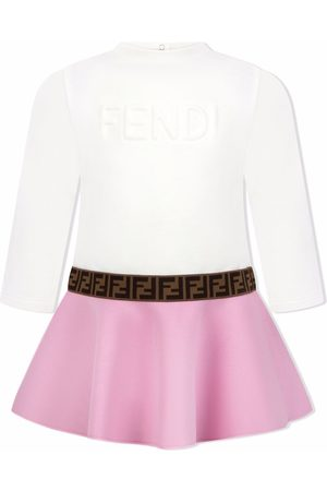 Fendi Baby Casual Dresses - Embossed logo flared dress