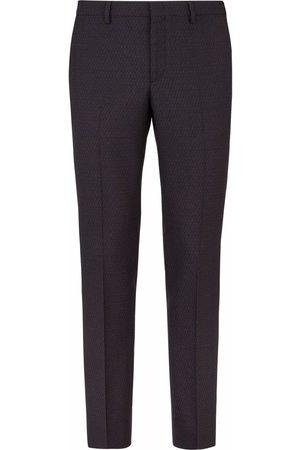 Fendi FF-motif tailored trousers - Grey