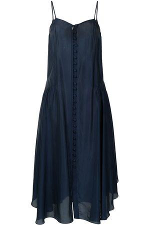 Liya Women Dresses - Button down silk dress
