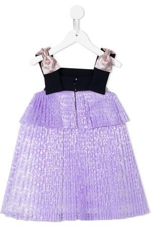 HUCKLEBONES LONDON Girls Dresses - Tiered-platform trapeze dress