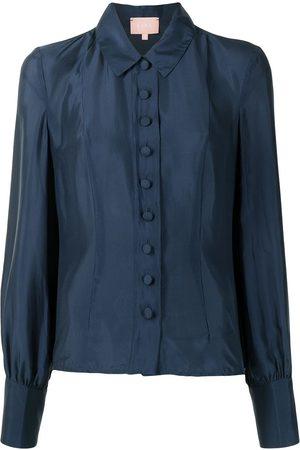 Liya Women Shirts - Button down silk shirt