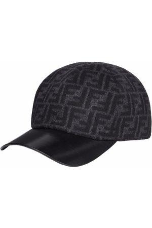 Fendi Men Caps - Logo-print baseball cap - Grey