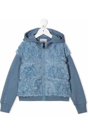 Moncler Fleece quilted hooded jacket