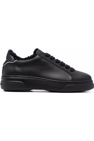 Dsquared2 Shearling-lined lace-up trainers