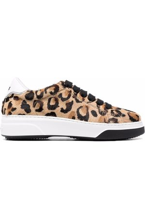 Dsquared2 Women Sneakers - Leopard-print lace-up trainers