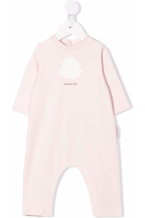 Moncler Baby Rompers - Logo-print cotton romper
