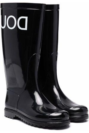 DOUUOD KIDS Logo rubber wellington boots