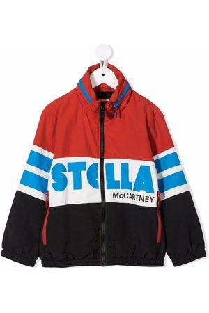 Stella McCartney Boys Bomber Jackets - Logo-print colour-block jacket