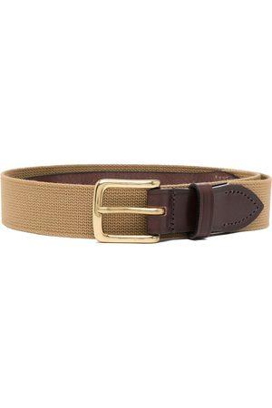 Anglozine Men Belts - Leather-trim belt