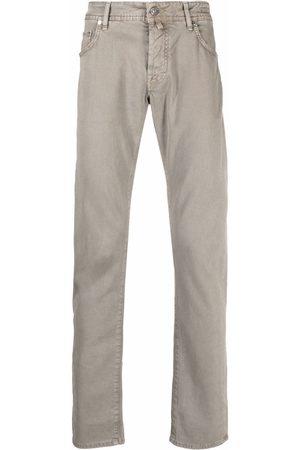 Jacob Cohen Men Straight - Logo-patch straight-leg jeans - Neutrals