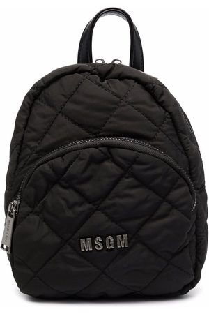 Msgm Girls Rucksacks - Quilted-finish mini backpack