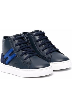 Hogan Boys Sneakers - Lace-up hi-top trainers