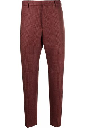 PT05 Men Chinos - Checked cropped chinos