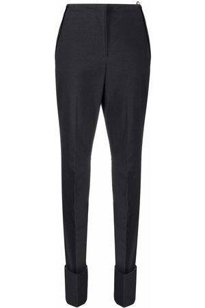 Jacquemus Women Straight Leg Pants - Laya straight-leg trousers - Grey