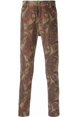 Pins & Needles Men Skinny Pants - Paisley-print skinny trousers