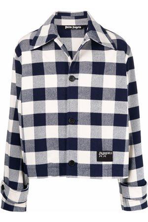 Palm Angels Men Jackets - Check logo shirt jacket