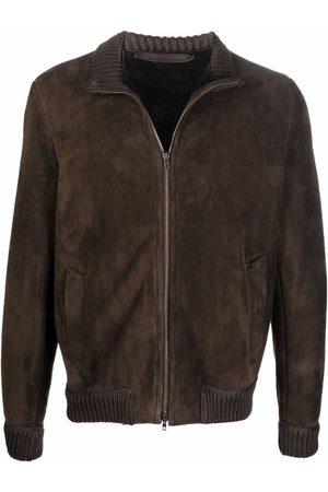 SALVATORE SANTORO Men Leather Jackets - Zipped-up leather jacket