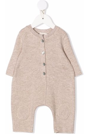 Caffe' D'orzo Baby Rompers - Delia knitted rib-trimmed romper - Neutrals