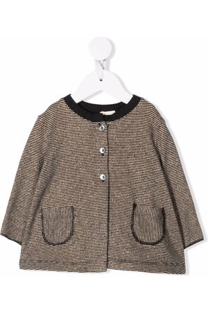 Caffe' D'orzo Bea striped knitted cardigan - Grey
