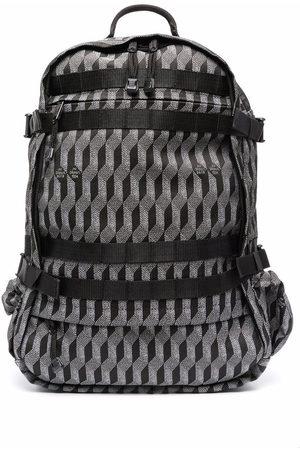 AU DEPART Jacquard pattern backpack